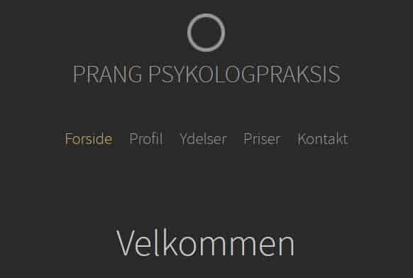 Skærmbillede fra Prang psykologpraksis